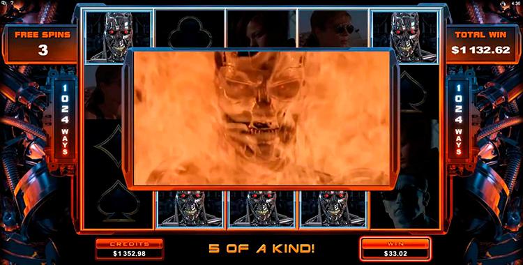 Победа в слоте Terminator Genisys