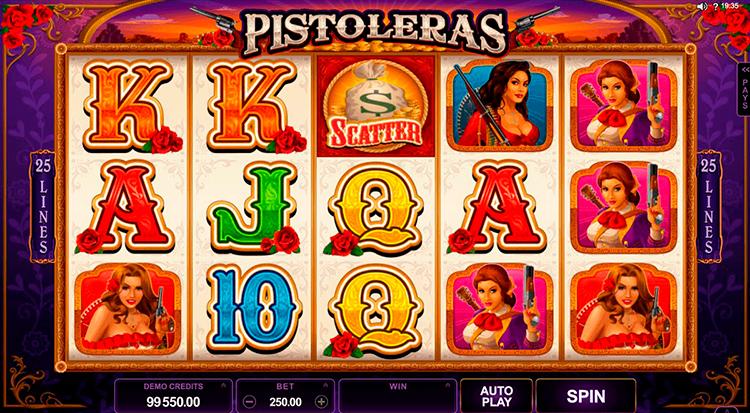Игровой автомат Pistoleras на реальные деньги в казино Icecasino