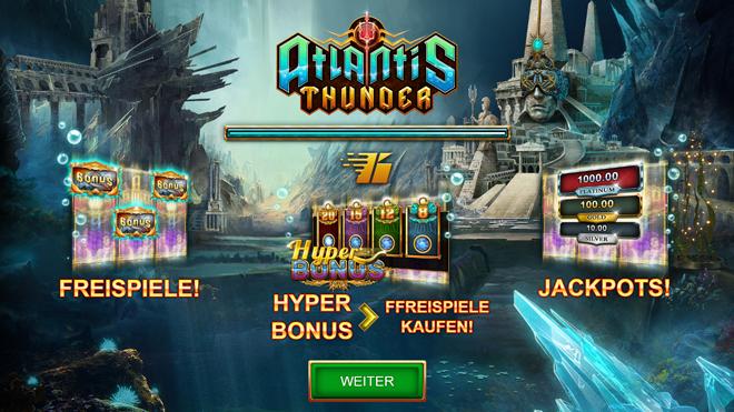 Онлайн слот на деньги Atlantis Thunder от казино Азино777