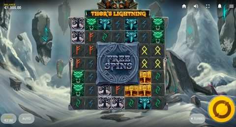 Онлайн игровой автомат Thor's Lightning в приложении Вулкан на Андроид
