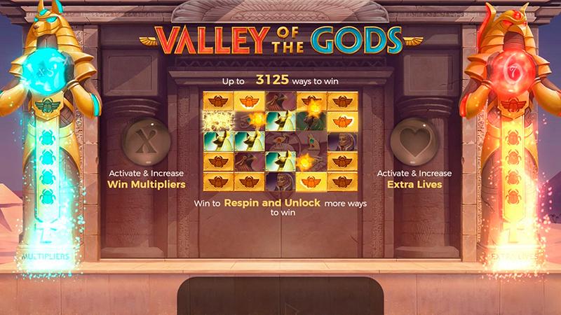 Слот Valley of Gods от мастера создания фантастических игр