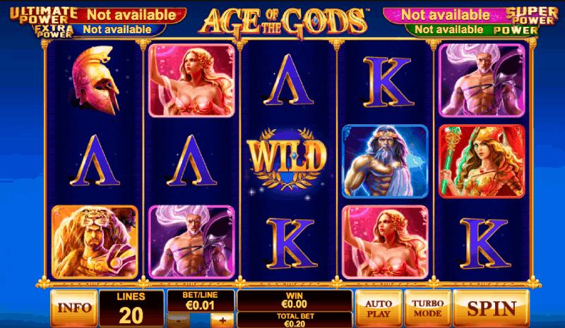 Слот Age of Gods на сайте казино Вулкан Старс