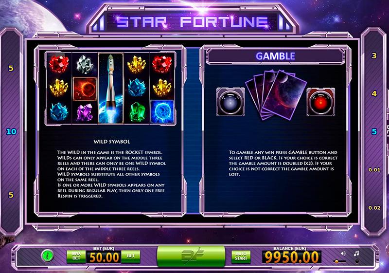 Правила слота Star Fortune
