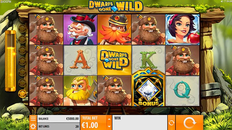 Игровой автомат Dwarfs Gone Wild в казино Vulkan