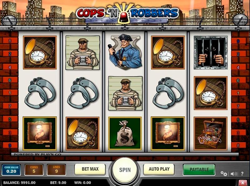 Слот Cops'N Robbers в интернет казино Победа