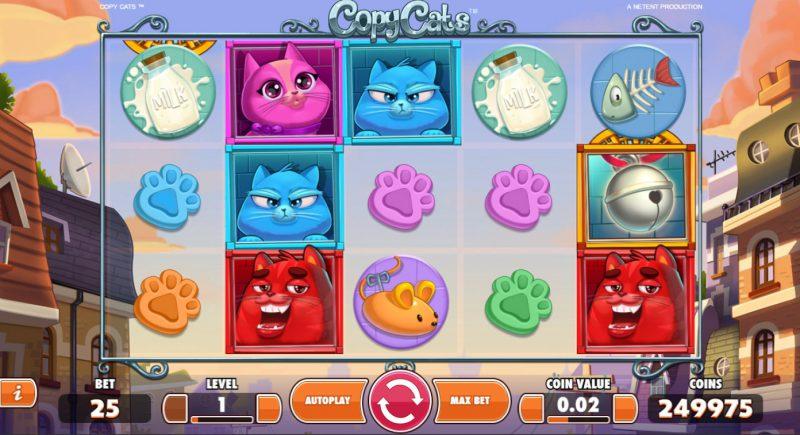 Слот Copy Cats на сайте казино Вулкан