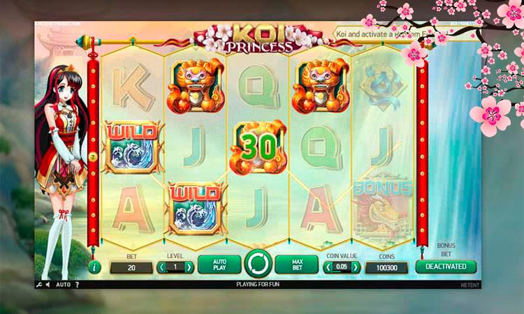 Слот Koi Princess в популярном игровом клубе BOOI