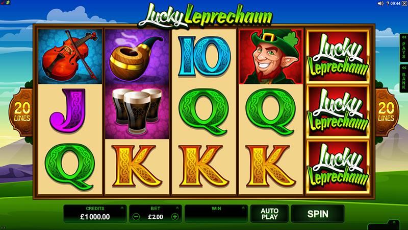 Слот Lucky Leprechaun на сайте казино Космолот