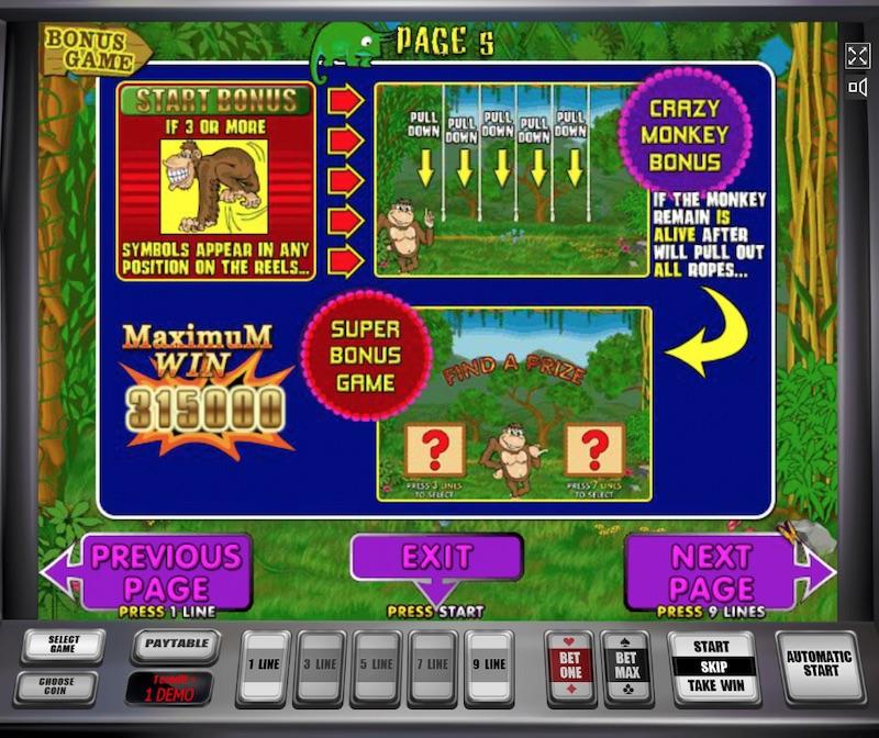 Игровой автомат Crazy Monkey в казино Дрифт