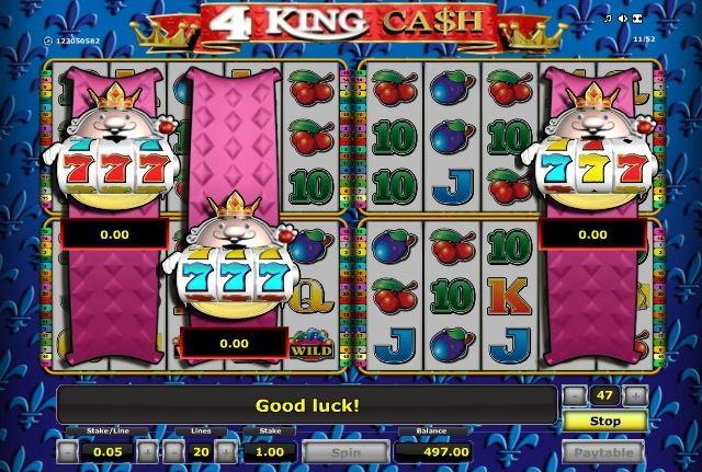 Обзор игрового автомата 4 King Cash в казино Вулкан Delux