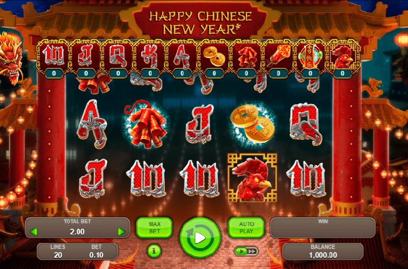 Слот Chinese New Year на портале Rox casino