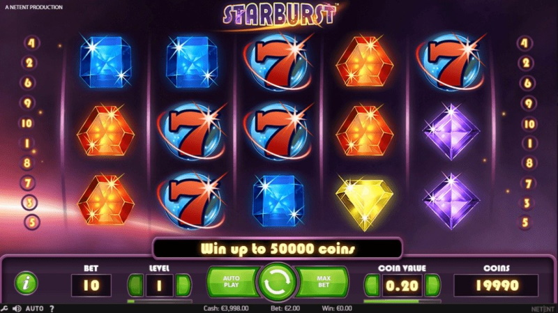 Слот Starburst в онлайн казино Космолот на сайте cosmolot-casino.com