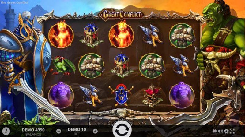Игровой аппарат The Great Conflict в онлайн казино поінтлото