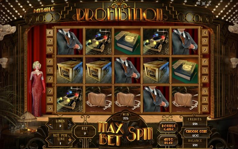 Игровой автомат Prohibition в гоксбет казино
