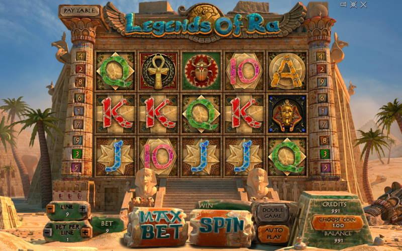 Игровой автомат на деньги Legends of Ra в казино Вулкан 24