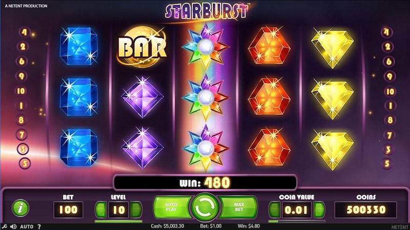 Starburst слот от NetEnt в казино ggbet