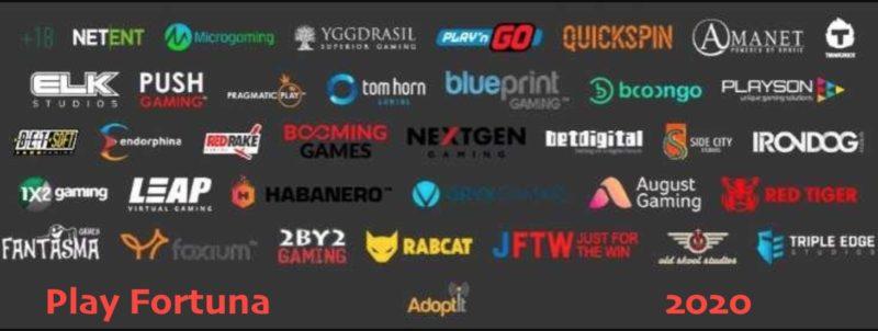 Производители игровых автоматов в Play Fortuna Casino