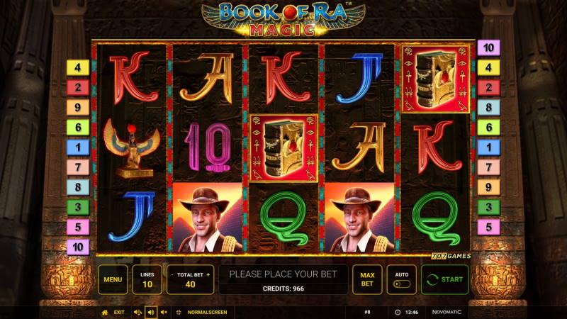 Барабаны слота Book of Ra Magic в онлайн казино
