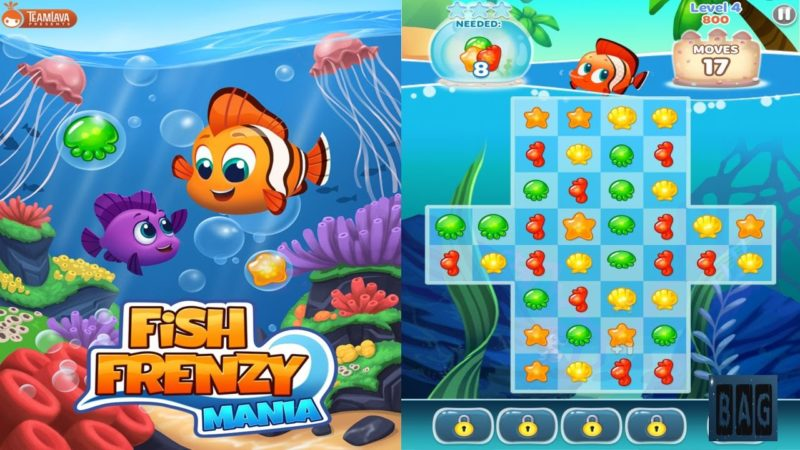 Экран слота Fishin Frenzy в зеркале казино Фреш
