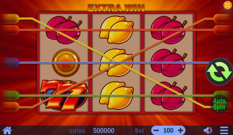 Барабаны слота Extra Win на сайте казино Pointloto