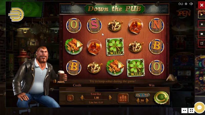 Барабаны слота Down The Pub в онлайн казино Фараон
