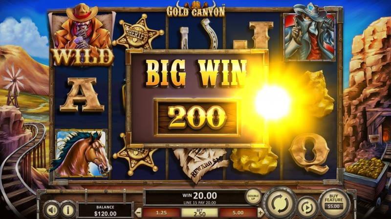 Крупная победа в слот Gold Canyon