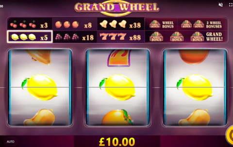Игровой автомат Grand Wheel в казино Адмирал