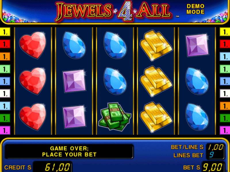 Символы слота Jewels 4 All в онлайн клубе casino anonymous