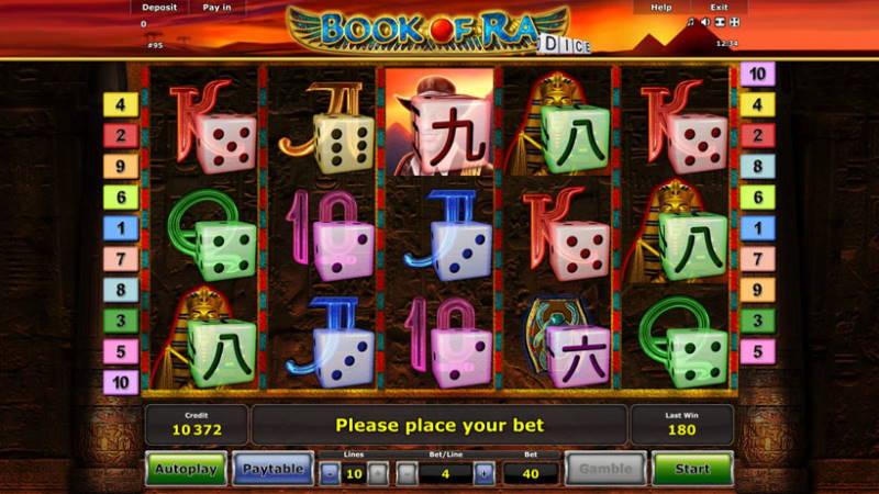 Игровой аппарат Book of Ra Dice в азартном онлайн клубе